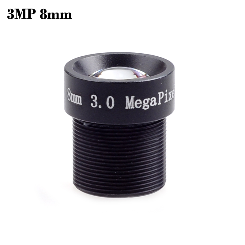 Wholesale cctv lens 3MP 8mm 1/2.5 M12 45degree 3.0Megpixel MTV lens IR HD Fixed Iris for 1080P cctv security camera IP Camera 5pcs lot hd 3 0megapixel m12 8mm hd cctv camera lens ir hd security camera lens fixed iris