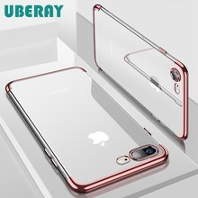 Uberay Silikon Clear Soft Case untuk iPhone X 10 X Max XR iPhone 6S 6 6S 6Plus 6S Plus iPhone 7 8 7Plus 7Plus Ponsel Cover Casing(China)