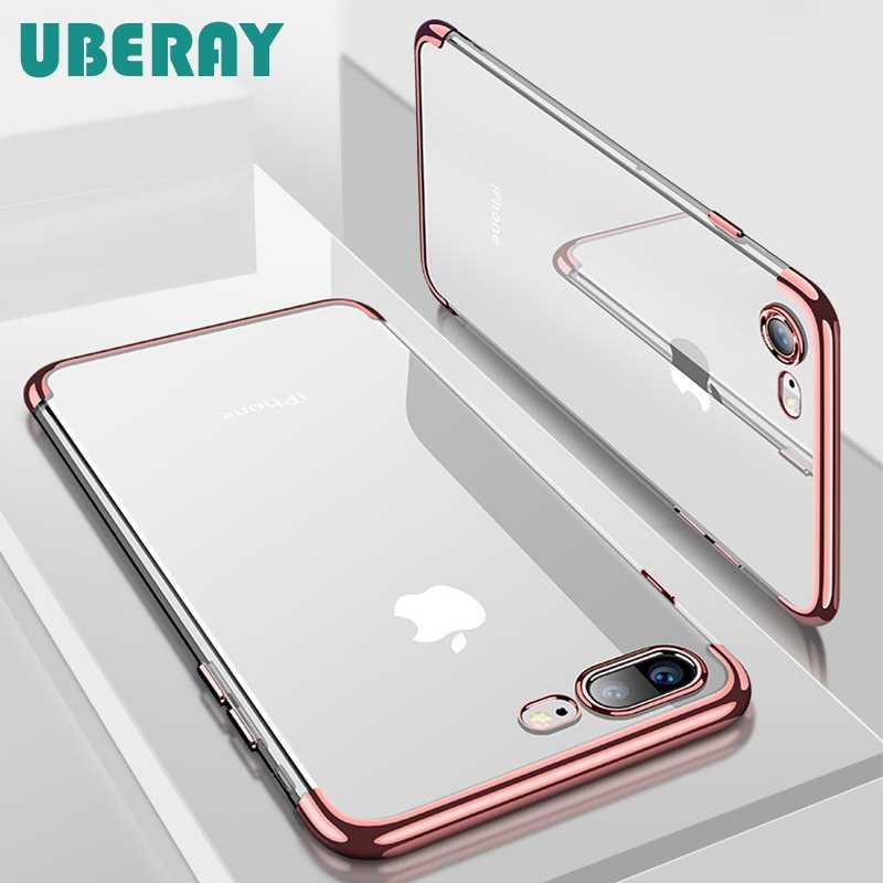 UBERAY Silicon Clear Soft Case for iPhone X 10 XS Max XR iPhone 6S 6 s 6Plus 6SPlus iPhone 7 8 7Plus 8Plus Phone Cover Casing