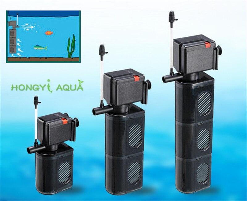 1 piece ultra quiet aquarium filter fish tank oxygen pump built in filter filter oxygen pump PS 618/628/638 7W/11W/13W LEECOM