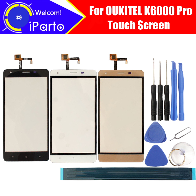 5.5 inch OUKITEL K6000 Pro Touch Screen Glass 100% Guarantee Original Glass Panel Touch Screen For K6000 Pro+tools+Adhesive