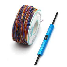 8 צבעים 30AWG חוט גלישת משומר נחושת מוצק PVC בידוד יחיד גדיל נחושת כבל בסדר חוט חשמל חוט לעטוף כלי
