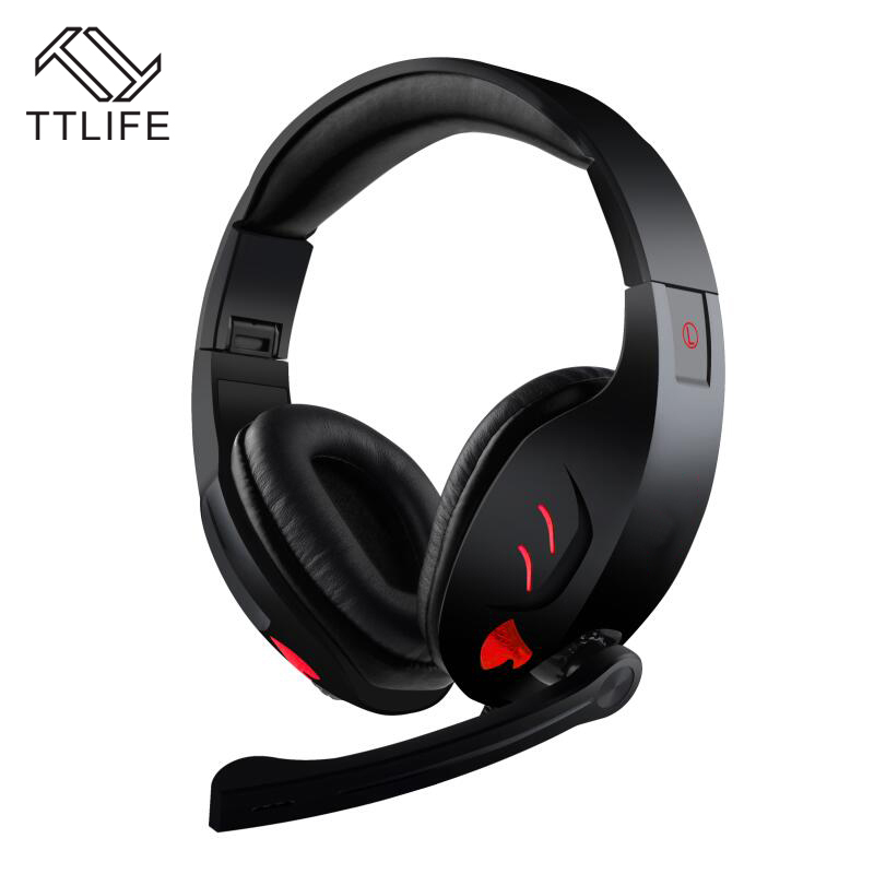 TTLIFE 7.1 Channel Virtual USB Surround Stereo Wired PC Gaming Headset Over Ear Headphones with Mic Revolution Volume Control each g8200 gaming headphone 7 1 surround usb vibration game headset headband earphone with mic led light for fone pc gamer ps4