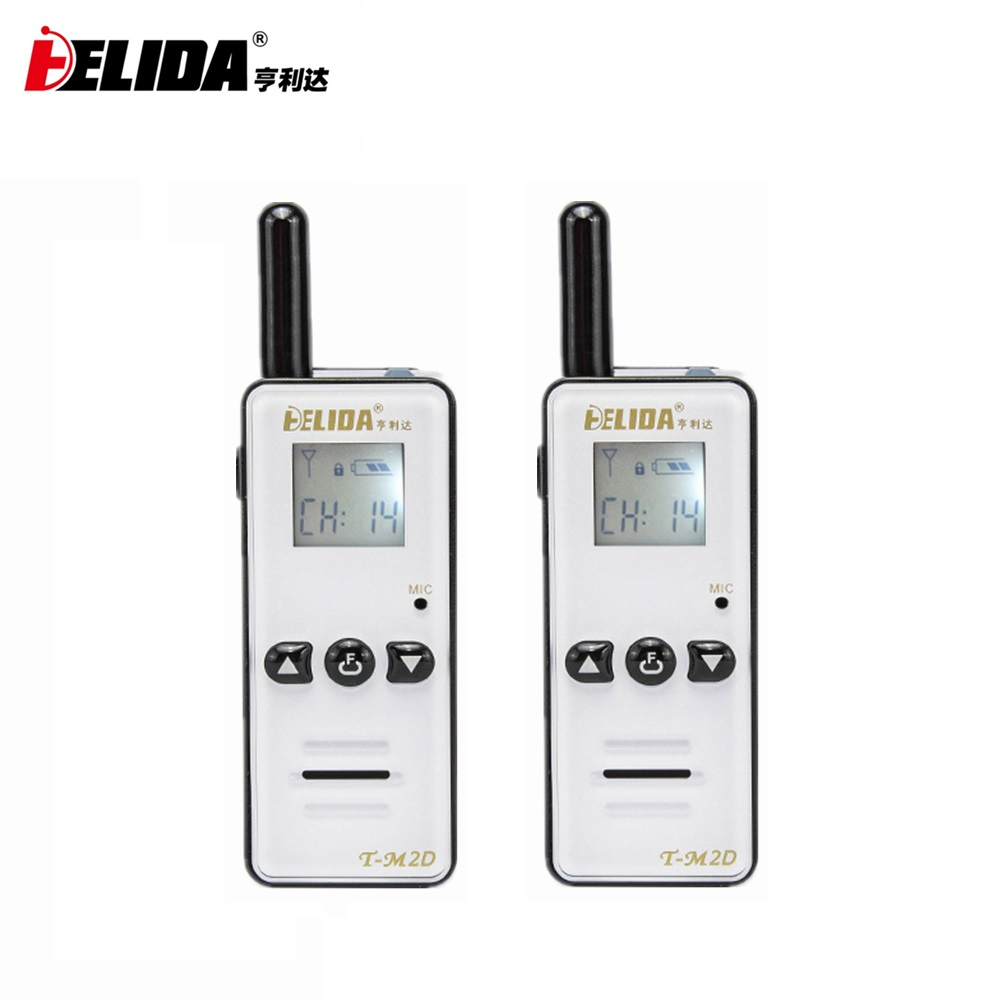 2pcs 400-480MHZ Handheld Children Two Way Radio 128 Channels T-M2D Mini Talkie Walkie Super Tiny FRS/GMRS Walky Talky Kids Radio