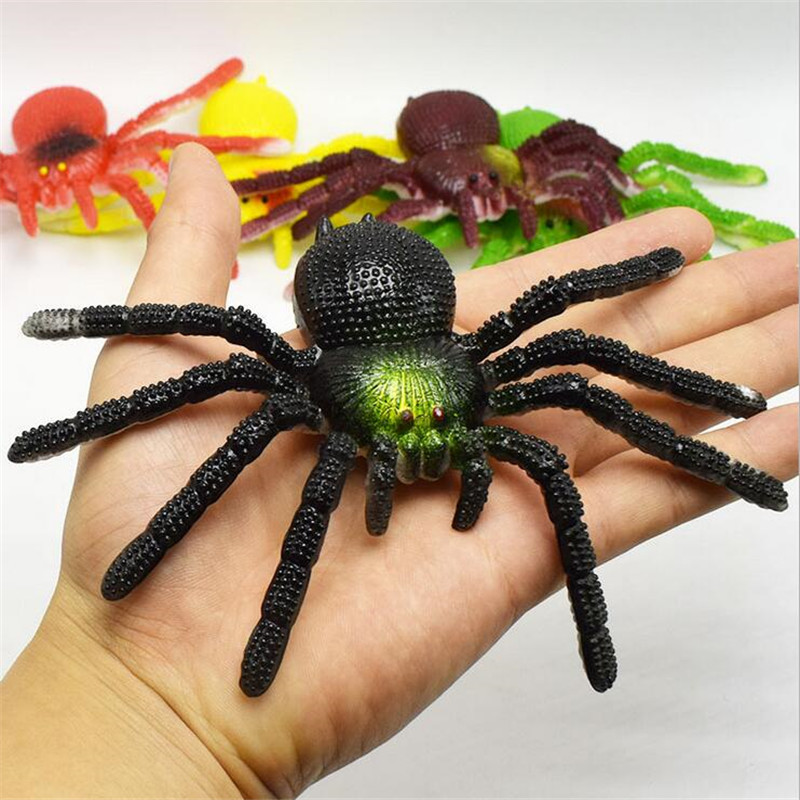 8*15cm Halloween Toys Spider Simulation Toys Tricky Scary Toy Prank Gift Model Strange New Toy Prank For Children