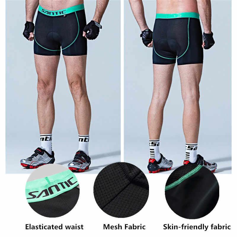 산티크 자전거 반바지 사이클링 패딩 속옷 여름 Coolmax 4D 패드 충격 방지 짧은 MTB 도로 자전거 자전거 반바지 버뮤다 Ciclismo