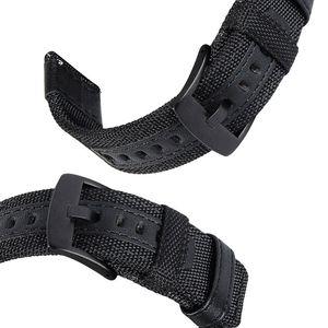 Image 5 - 삼성 기어 스포츠/갤럭시 시계 42mm/garmin vivoactive 3/ticwatch 2/e 용 easy fit 나일론 및 가죽 밴드 스트랩