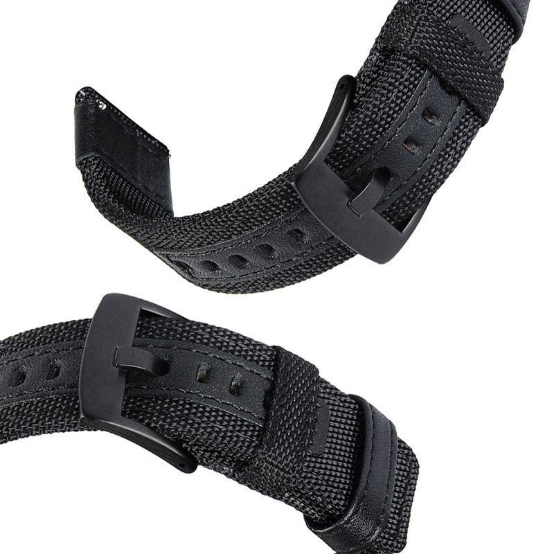 Ajuste de Nylon Banda para Samsung – para Garmin – e Fácil Leather Strap Engrenagem Esporte – Relógio Galáxia 42mm Vivoactive 3 Ticver 2 e &