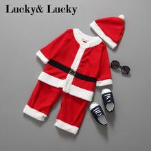 Christmas baby clothes infantil santa claus costume for baby boys newborn bebe rompers for new year