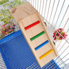 Swing Wooden Hamster Totoro Scaling Ladder Chinchilla Crawling Bridge Mouse Rat Bird Exercise Toy Shelf Cage