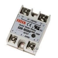 SSR 100DA 100A Single phase Solid State Relay Module 3 32V DC Input 24 380VAC 10pcs
