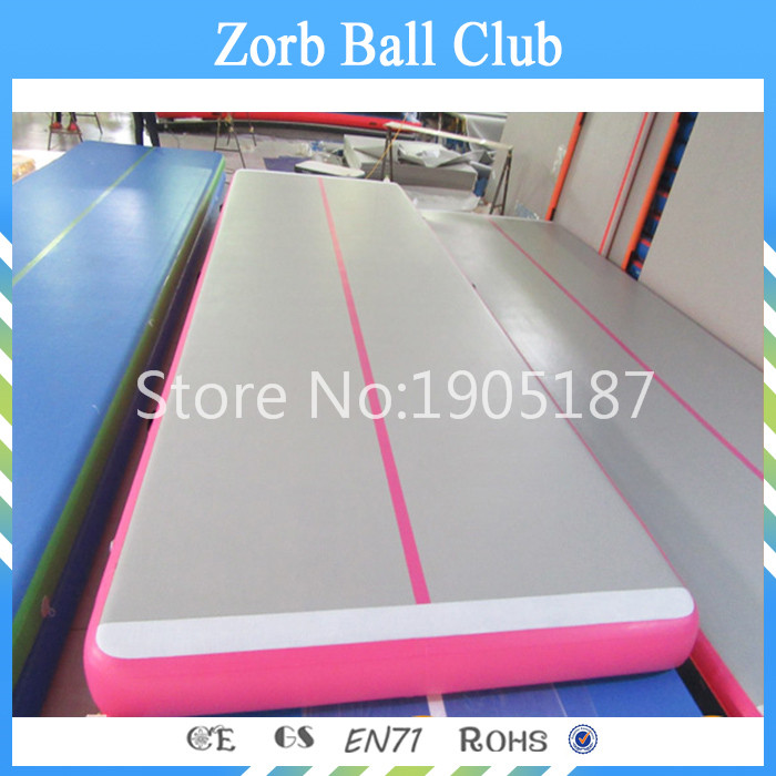 Free Shipping 5m Pink Inflatable Cheap Gymnastics <font><b>Mattress</b></font> Gym Tumble Airtrack Floor Tumbling Air Track For Sale