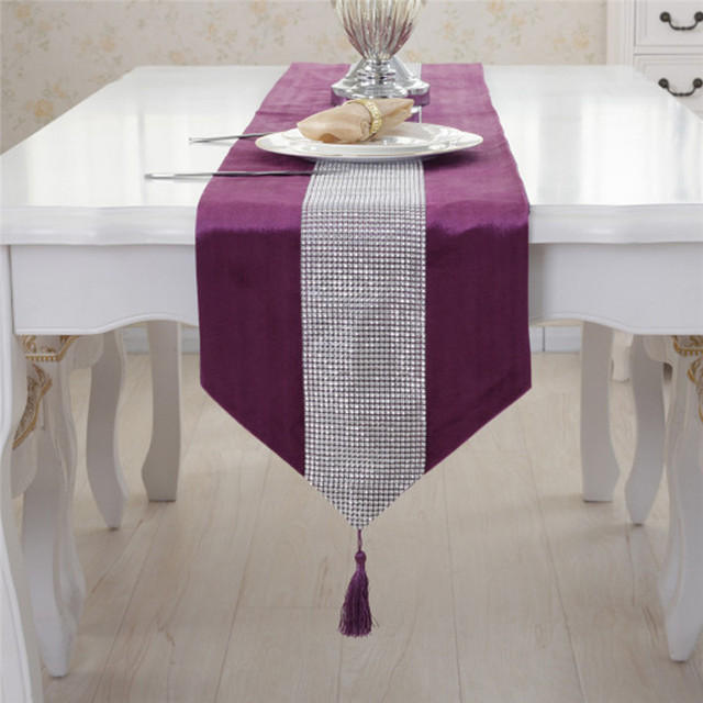 7 Colors Diamond Mesh Table Runner 32cm Width Crystal Rhinestone Wedding  Ribbon Party Bling Sparkly Wrap