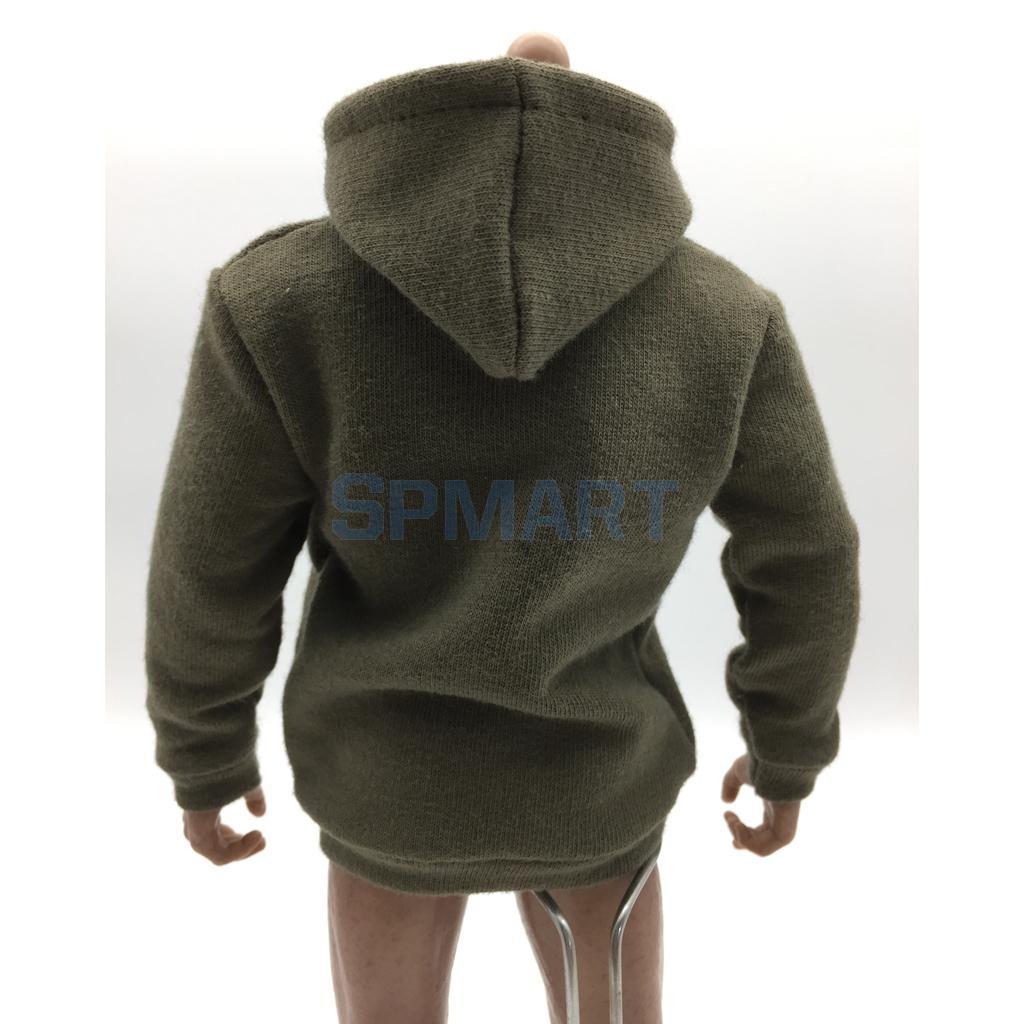 1/6 Scale Mens Long Sleeve Hoodie Sweatshirt Outfit Clothing for 12`` Hot Toys Sideshow Male Action Figure Dolls Accessories