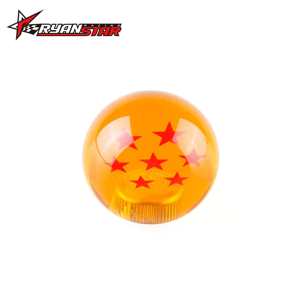 New arrived dragon ball z rare custom gear shift knob 54mm diameter 7 star acrylic m10x1 5 for universal car