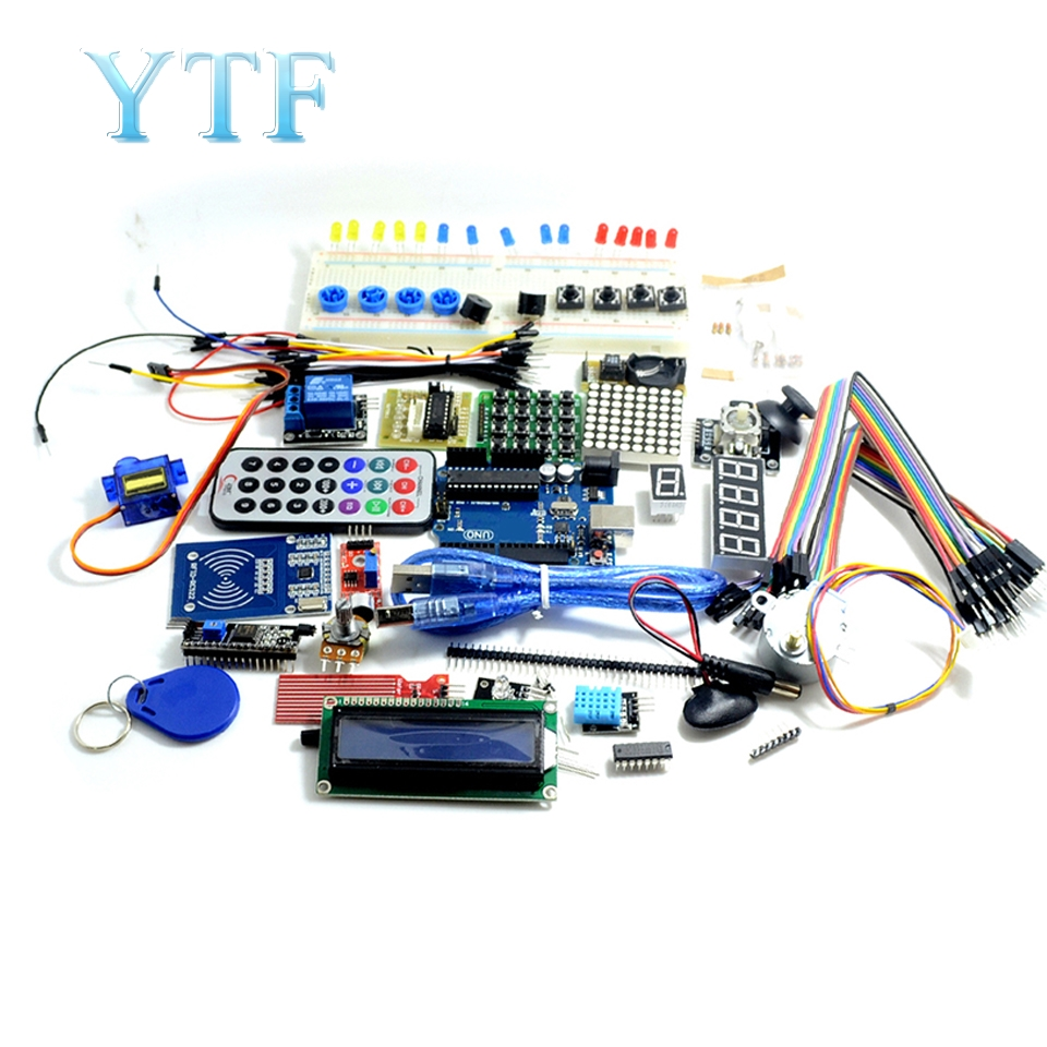 Foundation DIY Kit UNO R3 Kit Upgraded Version Of The Starter Kit The RFID Learn Suite LCD 1602
