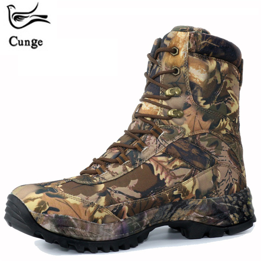 CUNGE Camouflage Outdoor Army Tactical Boots Men s Comat Hiking Military Boots Professional Climbing Shoes