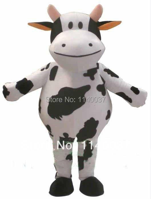 Mascotte lait vache Mascotte Costume laitier bovin vache veau Mascotte adulte taille Cosplay Costume Canival