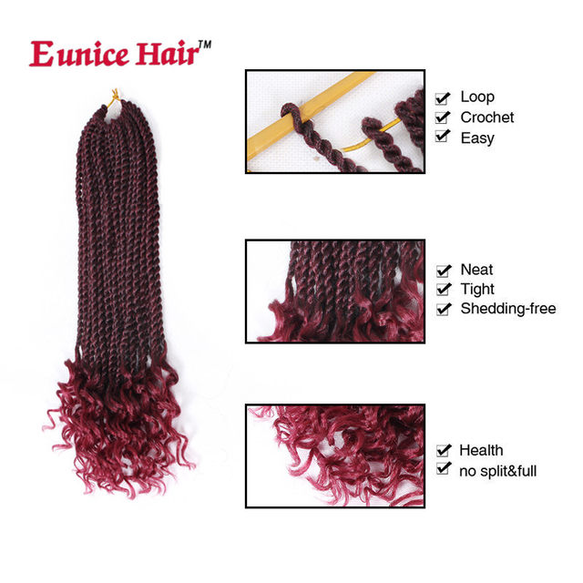 Online Shop 16 Inch Eunice Hair Crochet Braids Synthetic Pre Curled