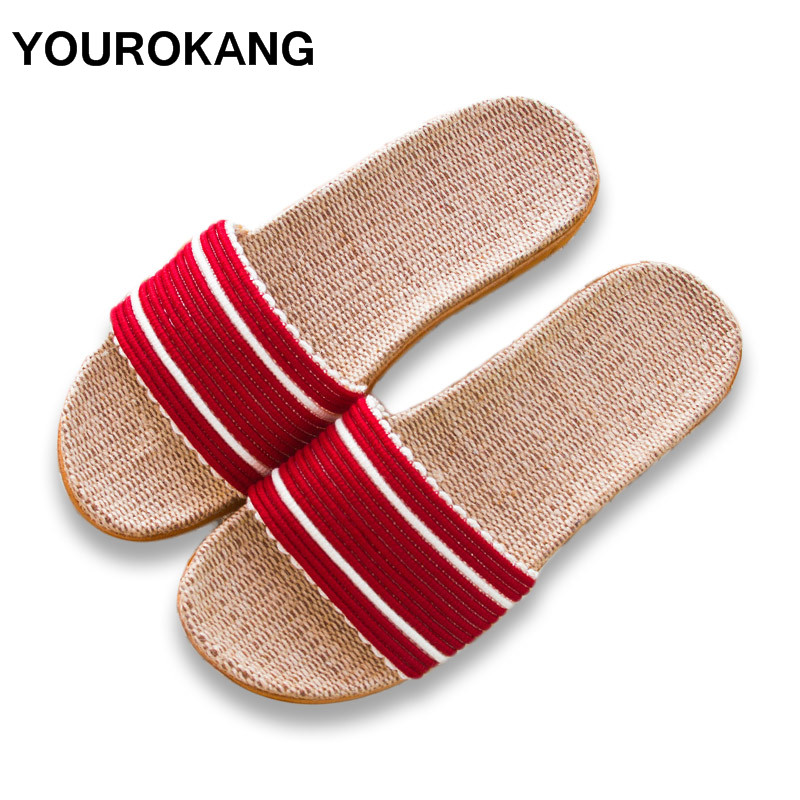 YOUROKANG Summer Autumn Women Linen Slippers Message Cool Home Slipper Newest Lightweight Bedroom Ladies Shoes Unisex For LoversYOUROKANG Summer Autumn Women Linen Slippers Message Cool Home Slipper Newest Lightweight Bedroom Ladies Shoes Unisex For Lovers