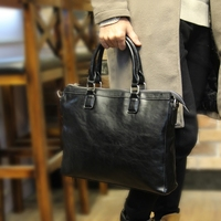 Brand High Quality Pu Leather Men Casual Shoulder Bag Large Capacity Crossbody Bags Computer Bag Male