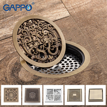 цена на GAPPO Drains bathroom floor drain shower fioor cover antique brass shower drain Bathtub Shower Drains