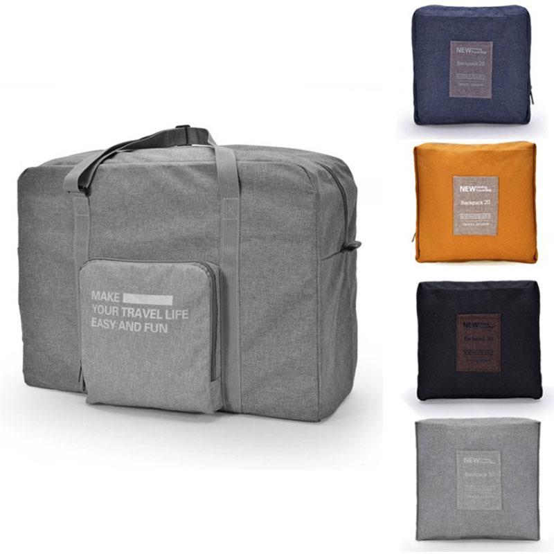 32L Large Capacity Travel Bag Men Folding Bag Unisex Luggage Travel Handbags