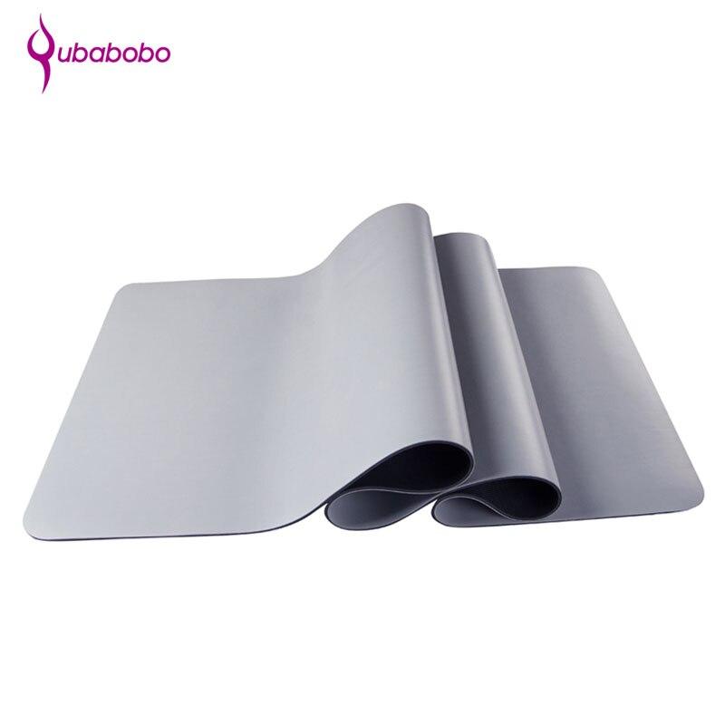 [QUBABOBO] 5mm caoutchouc naturel + PU Senior Yoga tapis dédié tapis de Fitness antidérapant tapis d'exercice coussin d'équilibre Pilates Colchonete
