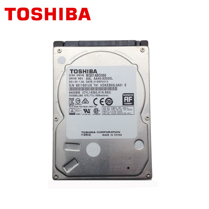 TOSHIBA Laptop 500GB 500G Internal Hard Drive Disk HDD HD 2.5 5400RPM 8M SATA 2 MQ01ABD050 Original New for Notebook 100% portable new external hard drives hdd 500gb usb3 0 for desktop and laptop disk storage hd