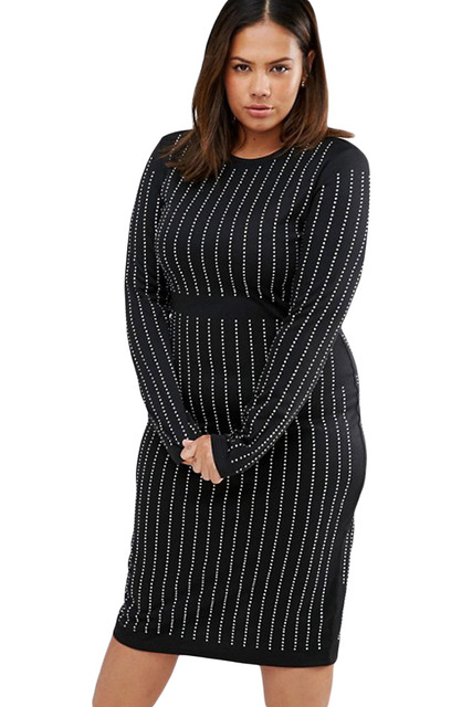 Sexy Womens Midi Dress 2017 New Plus Size Xxlxxxl Bodycon Dress