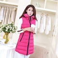 2016 Spring and Autumn in the long section down cotton vest female vest jacket thick warm Slim