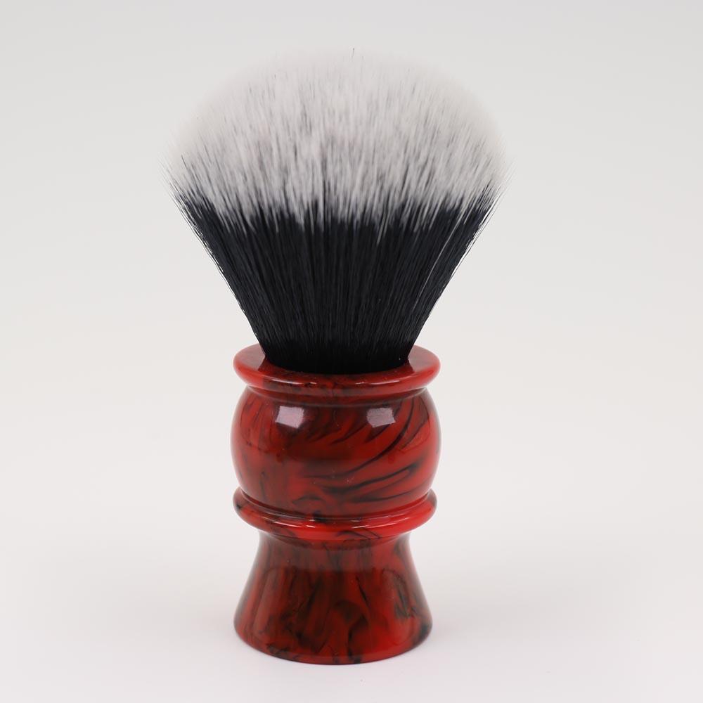 24mm Mens Shaving Brush with Resin Handle Synthetic Hair Good Tuxedo Knot