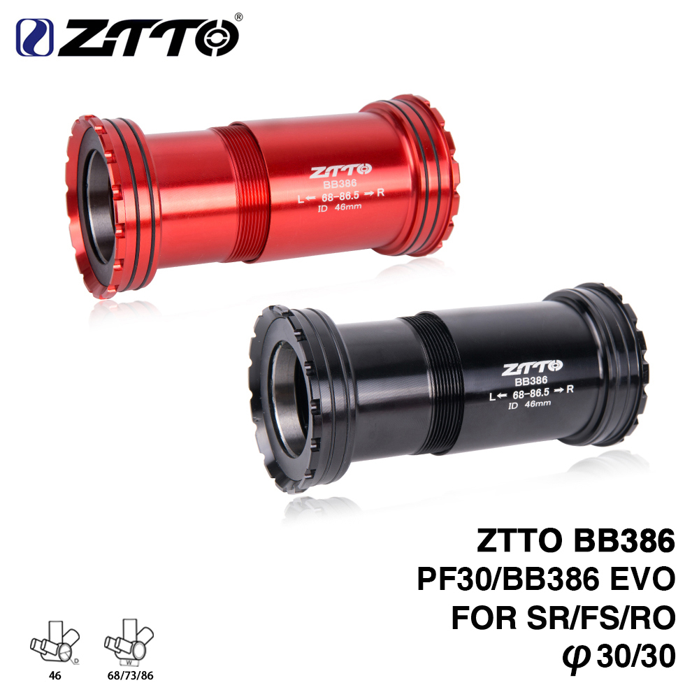 ZTTO BB386 EVO PF30 30 bicycle Press Fit Bottom Brackets Axle For MTB Road bike Rotor 3D BB K force 30mm Crankset chainset kz ed2 stereo metal earphones with microphone noise cancelling earbuds in ear headset dj xbs bass earphone hifi ear phones