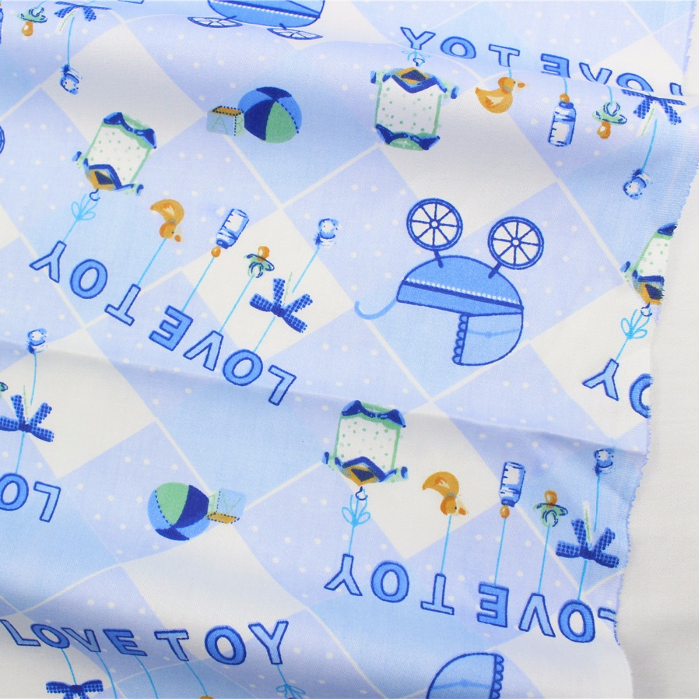 16715-4F, <font><b>50</b></font> cm * <font><b>150</b></font> cm cartoon series cotton fabric pattern, infants and children DIY handmade patchwork cotton fabric. image