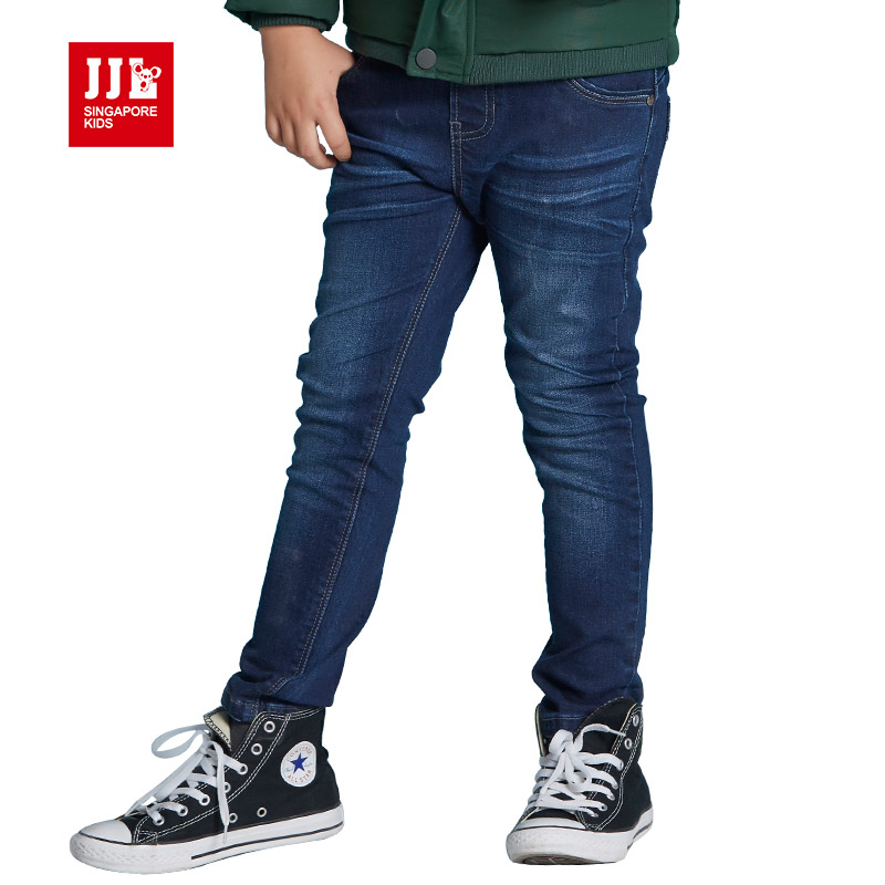 0f7cd27ca3a dark blue boys jeans kids pants full length children jeans boys denim pants  kids clothes children clothing 2016-in Jeans from Mother   Kids on ...