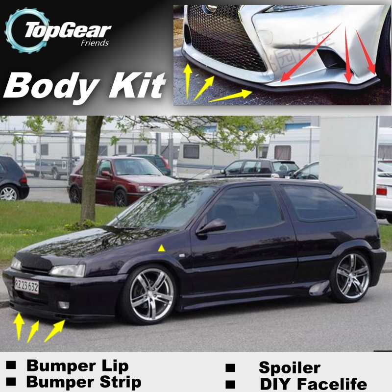 Bumper Lip Deflector Lips For Citroen ZX Front Spoiler Skirt For Top Gear Fans to Car Tuning View / Body Kit / Strip