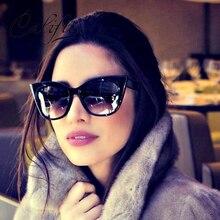 CALIFIT Ladies Vintage Cat Eye Women Luxury Sun Glasses For Women Gradient Retro Brand Shades Oculos Female