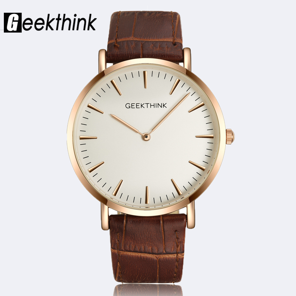 font b geekthink b font minimalist ultra thin top brand luxury quartz watch men business