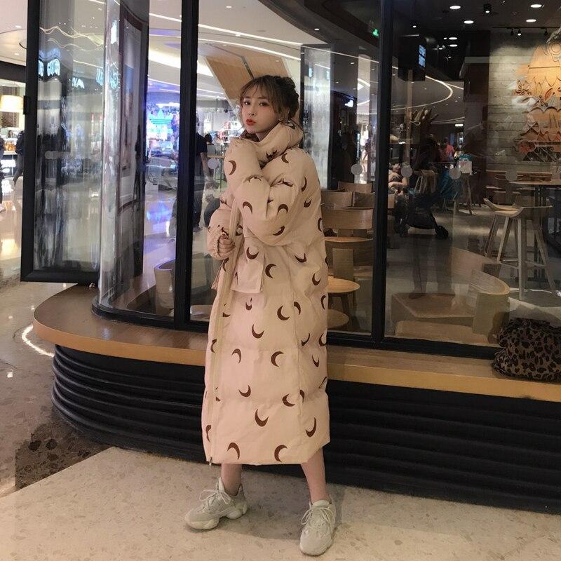 Nouveau Style Veste Imprimer Apricot Hiver Coton Lunes Et Parka Sœurs Étudiant Style Style Pour apricot Mumuzi Printemps Lâche Manteau Long Épais Outwear 2019 Femmes Short black ZkiOPXuwTl