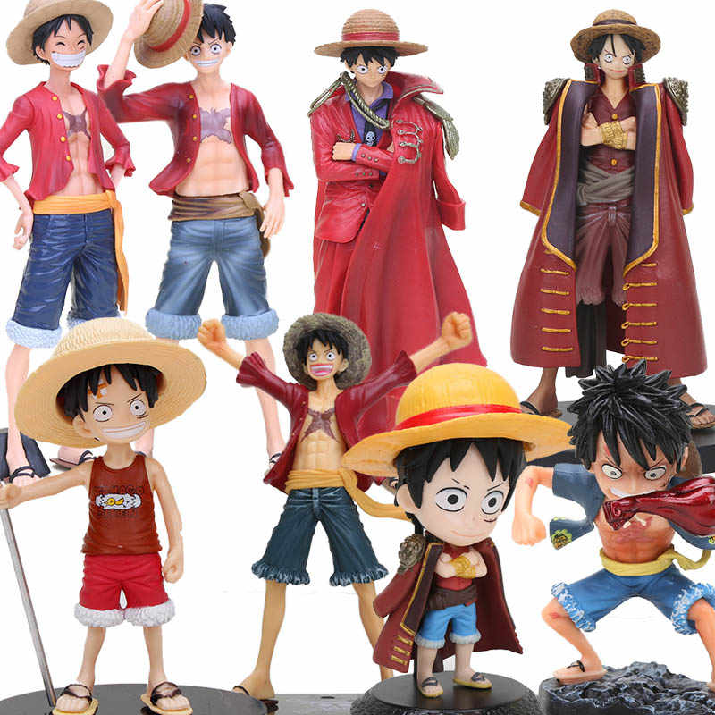 One Piece Red Luffy Figure Straw Hat King Of Art Koa One Piece Gk Monkey D Luffy Gear Fourth Pvc Childhood Figure Toy