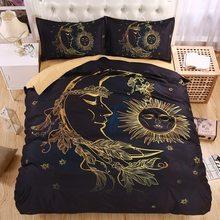 Легкий Boho Защита от солнца луна и звезды 3D Постельное бельё постельное белье twin Королева Король красивый узор реальный эффект