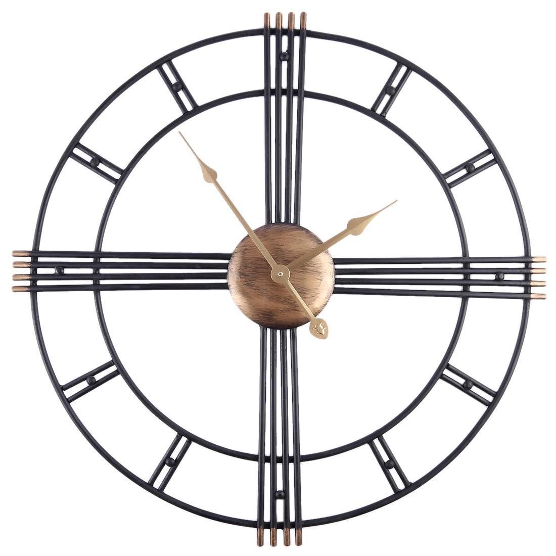 50 centímetros Retro Arte do Ferro Antiquing Mudo Relógios de Parede Decoração de Escritório Em Casa Em Silêncio Relógio de Quartzo Relógio Relógio de Parede Design Moderno nova Chegada