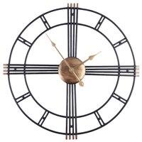 Retro Iron Art Antiquing Mute Wall Clocks Home Office Decor Silent Wall Clock Quartz Watch Wall Clock Modern Design New Arrival