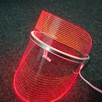 Sihirli 2 Renkler LED Yüz Maskesi USB Güzellik Enstrüman Fototerapi Kırmızı & Mavi Işık Gençleştirmek Gözenekleri Küçültmek Yüz masaj yeni