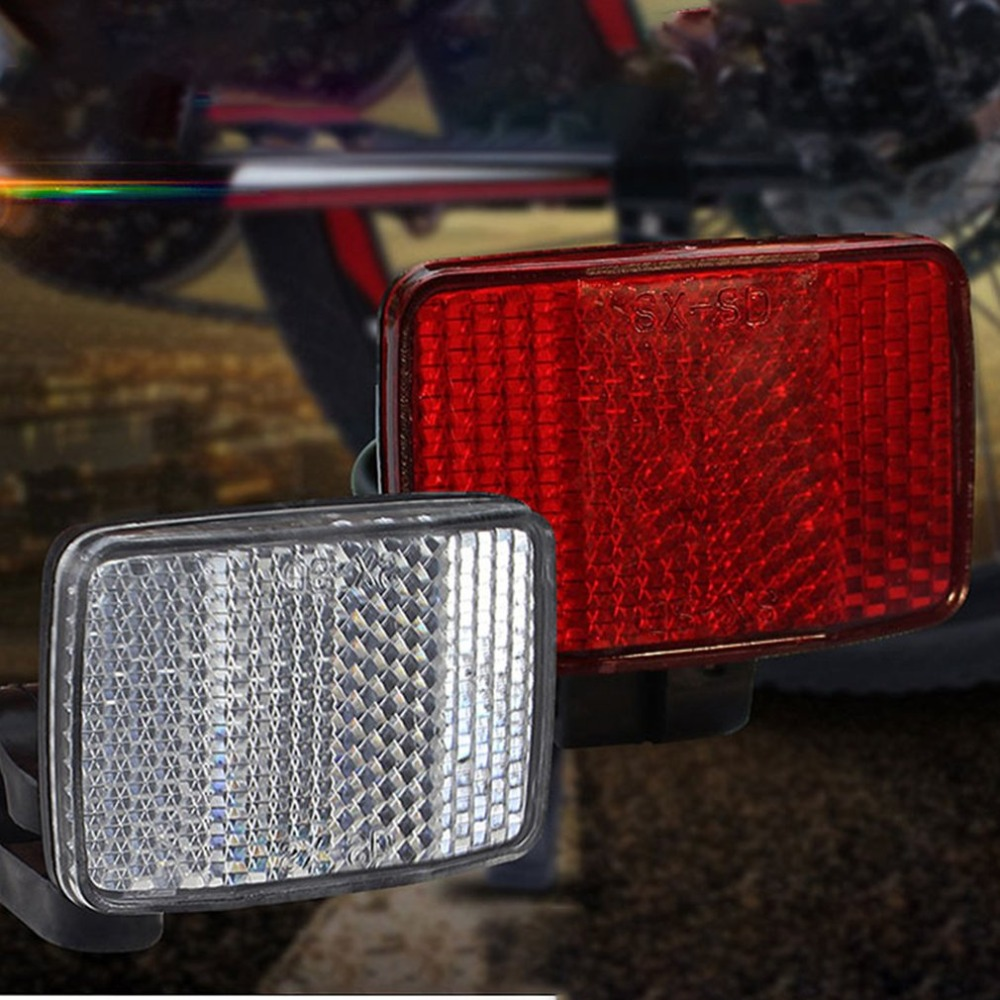 Bicycle Front Rear Reflector 1Pc Bike Reflective Lens Cycling Safety Accessories