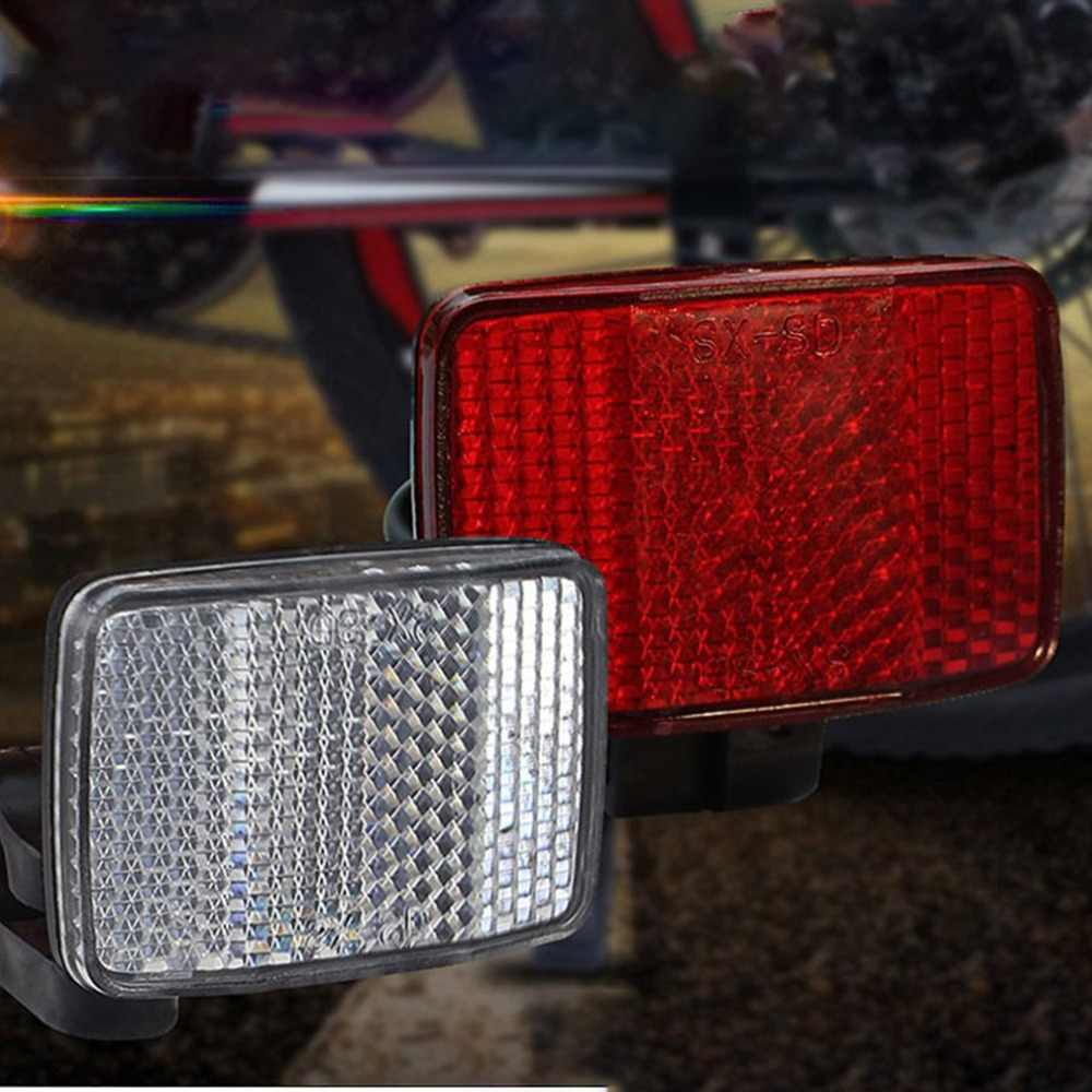 1 szt. Przód roweru tylna soczewka antyrefleksyjna MTB Road Bike automatyczne reflektory rowerowe światło ostrzegawcze kolarstwo akcesoria dla bezpieczeństwa
