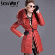 skinnwille Thickening coat winter jacket women down jacket women 2016 fur coat parka fur Warm coat abrigos mujer invierno