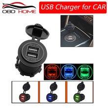 Najlepiej 12-24V ładowarka USB do motocykla Auto Truck ATV łodzi LED samochodów 4.2A gniazdo Dual USB ładowarka gniazdo zasilacza mocy