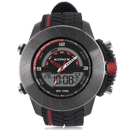 Relojes hombre 2017 digital watch men , Dual display 100M waterproof sport watches for men , erkek kol saati montre homme цена 2017