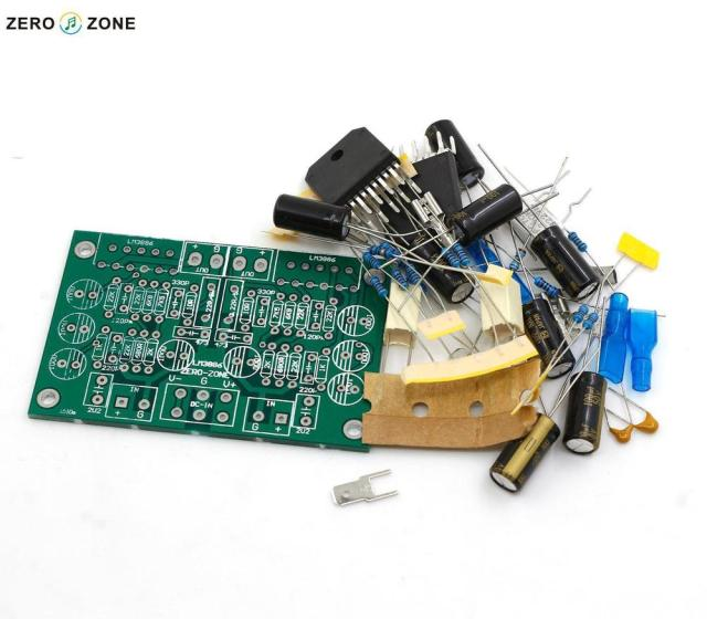 2015 NEW HIFI-STORE ZEROZONE LM3886 Stereo amplifier Kit Pure dynamic feedback circuit L1510-9
